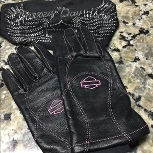 Harley Davidson Womens Leather Gloves